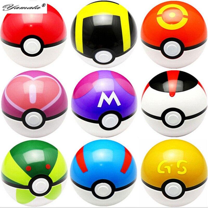 Yamala 12pcs/<font><b>lot</b></font> 7CM Trainer <font><b>Poke</b></font> <font><b>go</b></font> Pokeball <font><b>Love</b></font> Park Ball Masterball Pokeballs GS Ultra Dive <font><b>Poke</b></font> Ball <font><b>Toy</b></font> Figures Random