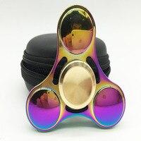 Spiner Fidget Spinner Metal Hand Spinner EDC Gyro Stress Toys Torqbar Brass Gyroscope Finger Spinner