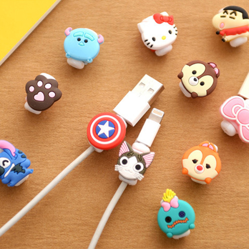 Colorful cute cartoon style wire to prevent broken clip stationery office supplies student gifts diy high quality free shipping
