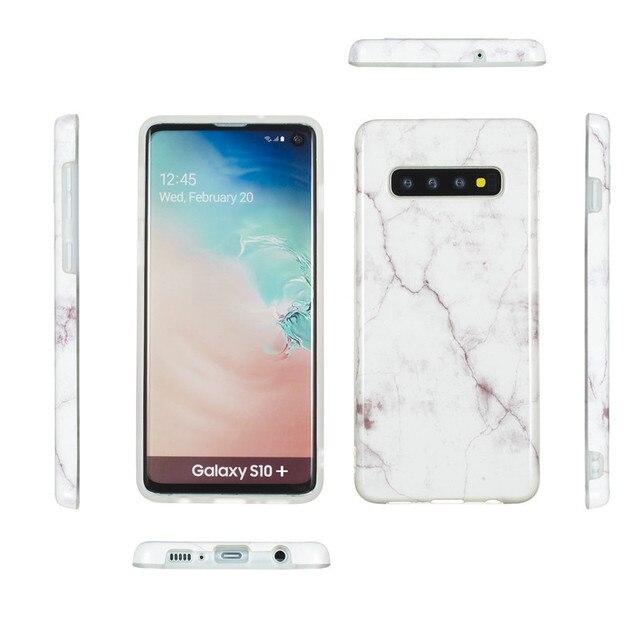 Coque en marbre pour Samsung Galaxy S10 coque souple en ptu coque arrière sFor Samsung S10 Plus S10e S 10 S10Plus coque de téléphone en silicone Capa