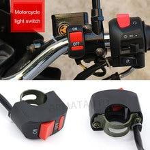 1 шт., Универсальный мотоциклетный руль, Пламенный переключатель, кнопка вкл. Выкл., для мотора, квадроцикла, велосипеда, DC12V/10A, черный, мотоциклетный переключатель