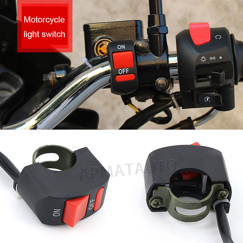 1pcs  Universal Motorcycle Handlebar Flameout Switch ON OFF Button For Moto Motor ATV Bike DC12V/10A Black Moto Switch
