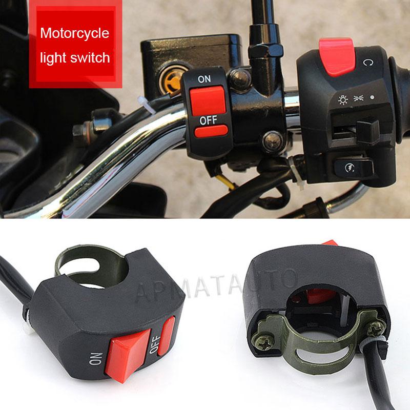 1pcs  Universal Motorcycle Handlebar Flameout Switch ON OFF Button For Moto Motor ATV Bike DC12V/10A Black Moto Switch