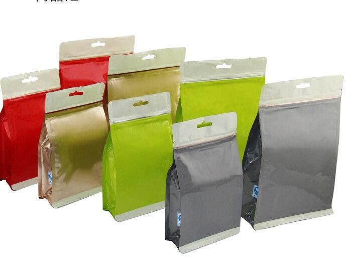 S size:14*23*7cm 3D stand bags/ Color Foil zipper bags Bags/ Tea ...