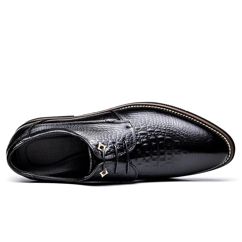935 marron Oxford Pointu Mariage Formelle De Brm Noir Cuir Luxe 2018 D'affaires Cosidram Robe Véritable jaune Pour Chaussures En Hommes Bout gTBHcxwZq
