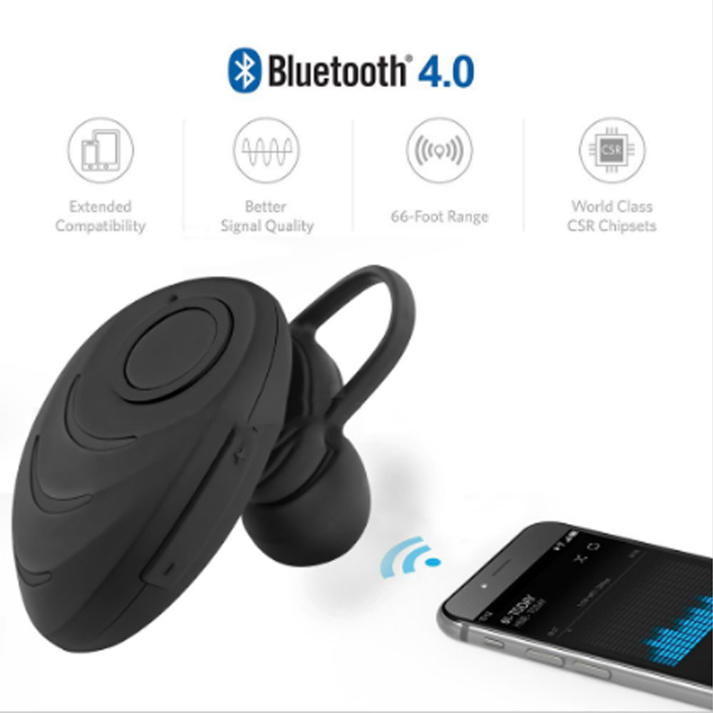 Beetle Shaped Hands-free Earphone Mini Wireless Bluetooth V4.0 Stereo In-ear Headset Bluetooth Headset with mic for phone