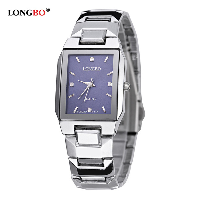 LONGBO Top Brand Fashion Square Case Stainless Steel Band Women Watch Men Business Couple Wristwatch Quartz Analog Clock 867A LONGBO Top Brand Fashion Square Case Stainless Steel Band Women Watch Men Business Couple Wristwatch Quartz Analog Clock 867A