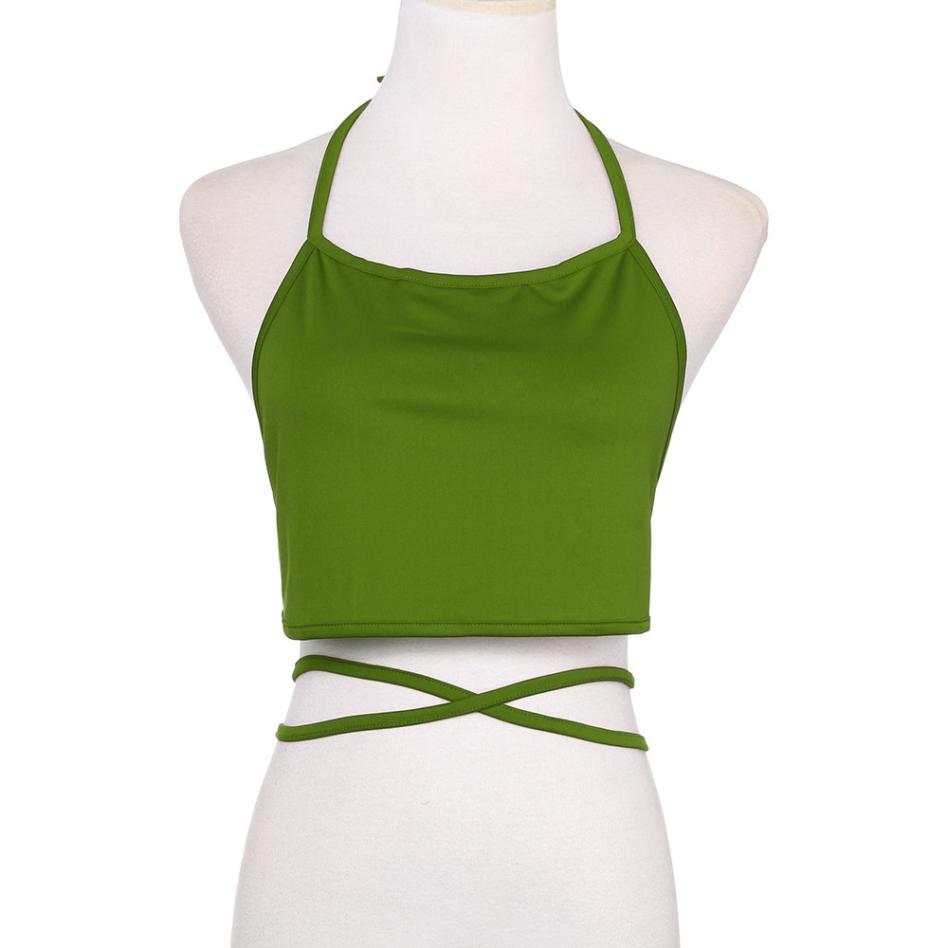 Summer vest clothes for women underwear Sleeveless Backless Vest Halter Tank Tops Blouse T-Shirt