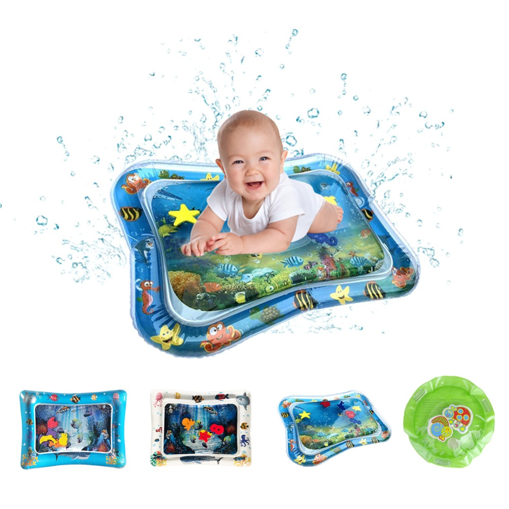 Inflatable Gyms Baby Water Mat Infant Tummy Time Playmat Toddler Fun Activity Play Center For Sensory Stimulation, Motor Skills