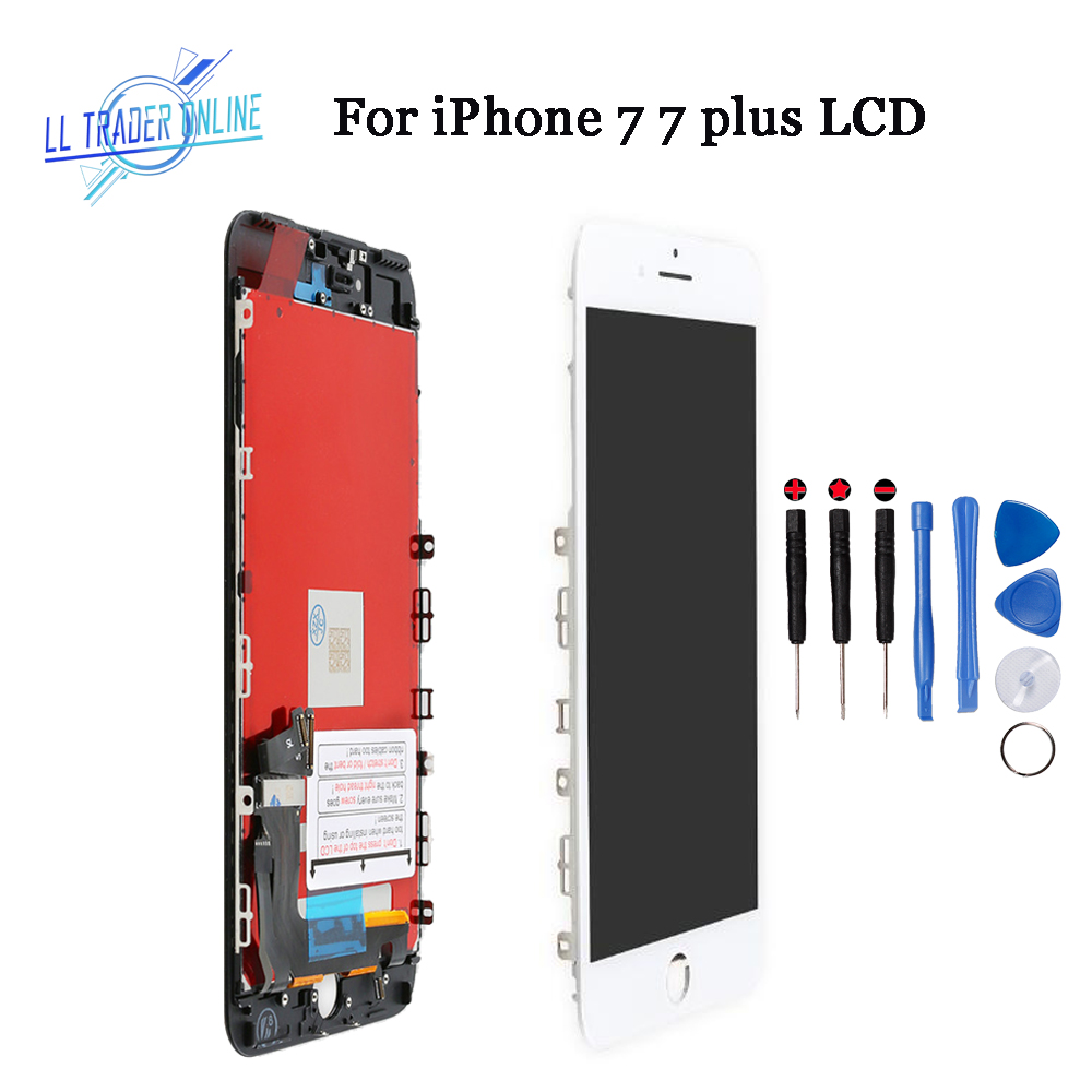 Lcd-Display-Screen Digitizer iPhone 7 Assembly Black/white LL TRADER for 7-Plus Pantalla