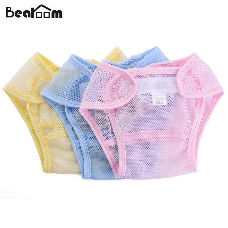 Baby diapers Reusable nappies cloth diaper Washable mesh Pocket nappy newborn Summer Breathable Diapers infant Cotton liner