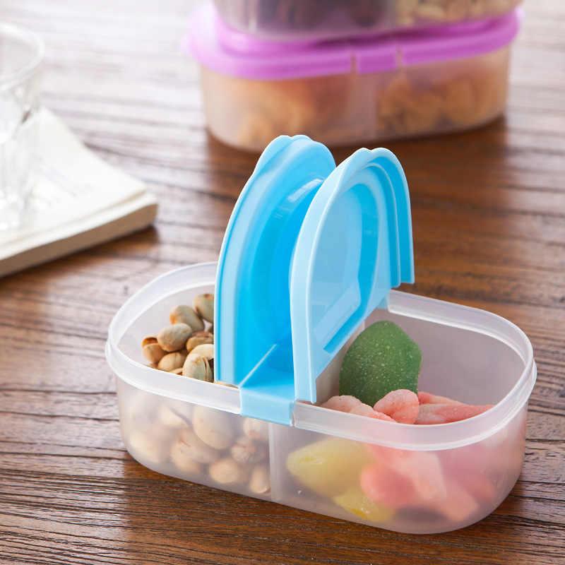 Caso Protetor de Plástico Recipiente Almoço Viagem Ao Ar Livre portátil Fruit Food Louça Define Caixa De Armazenamento Titular 2 caixas divididas C