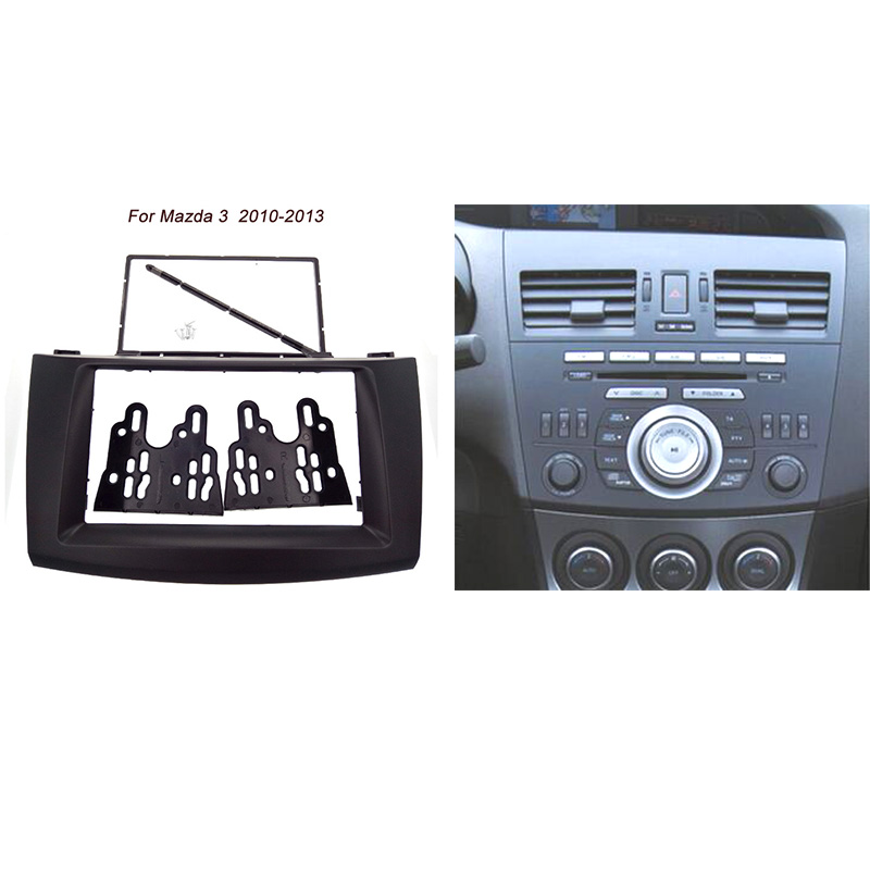Free shipping good quality Car refitting DVD frame,DVD panel,Dash Kit,Fascia,Radio Frame,Audio frame For Mazda 3 2010-2013 2DIN гардемарины 3 dvd