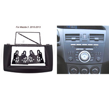 Trasporto libero di buona qualità Car refitting DVD frame, panel DVD, Dash Kit, Fascia, Radio Frame, Audio frame Per Mazda 3 2010-2013 2DIN