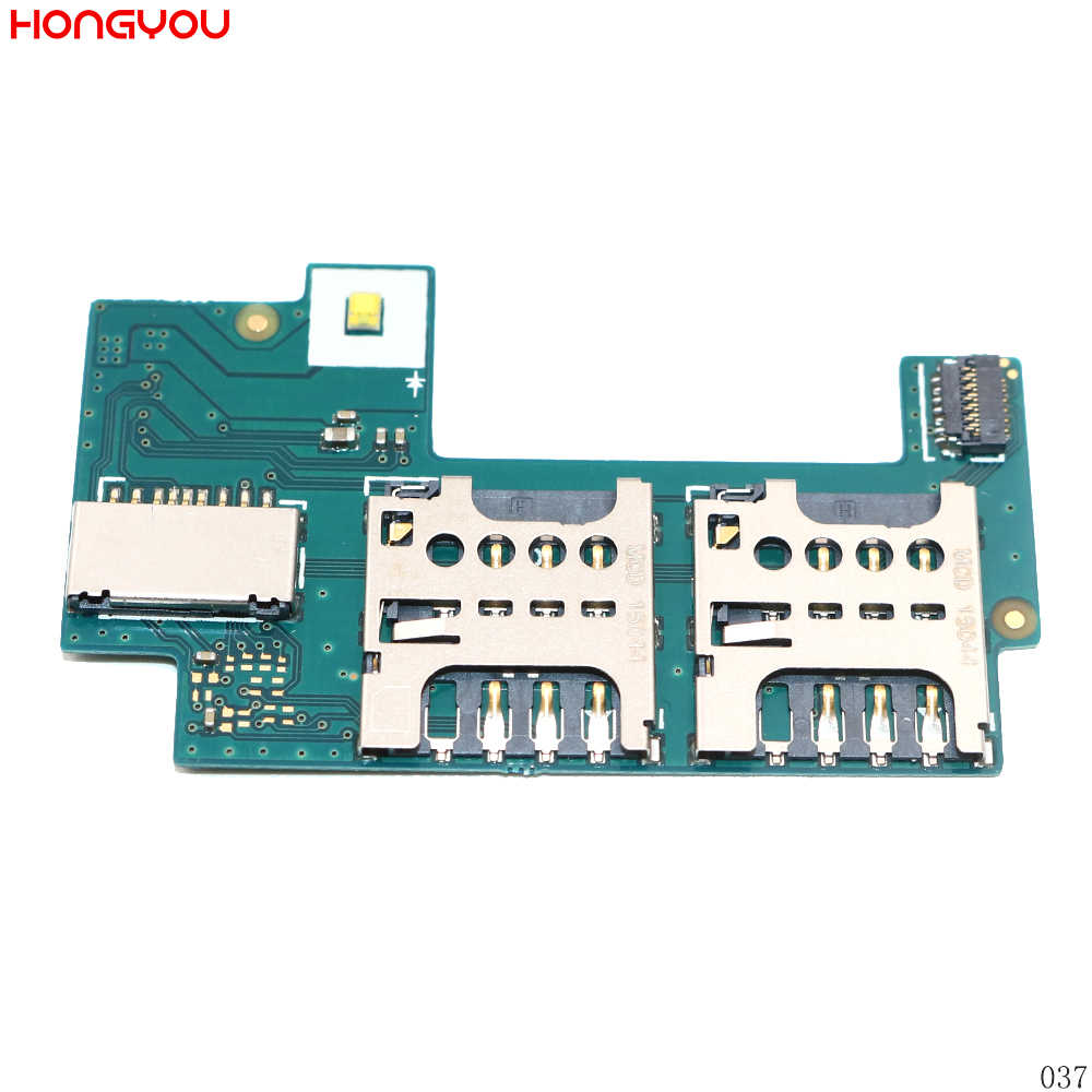 SIM Card Reader Holder Tray Slot Socket Contact PCB Board Flex Cable For Sony Xperia C S39H S39C C2305 C2304
