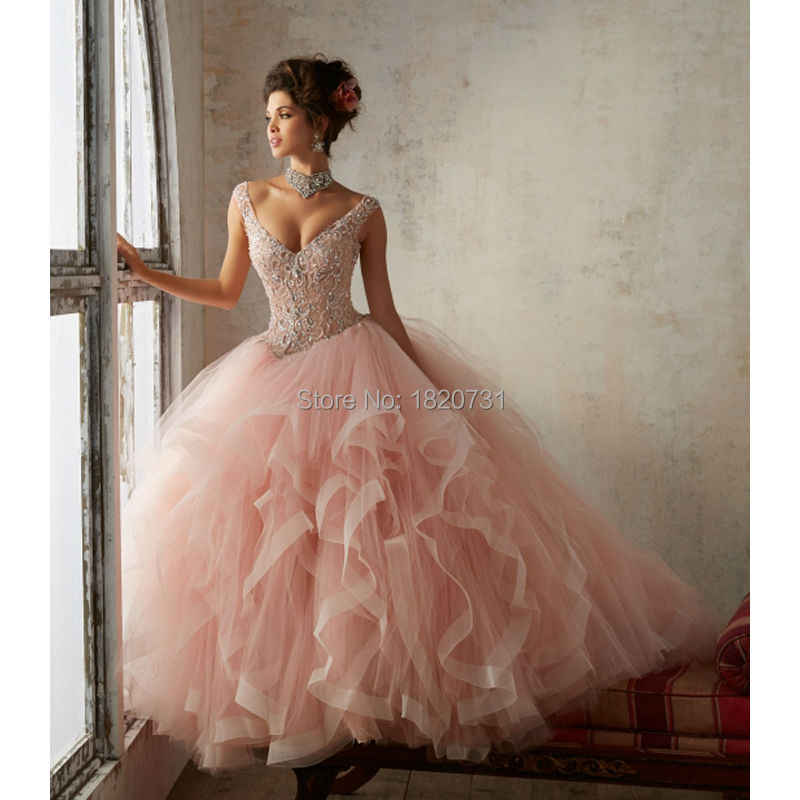 841856d7cc2 Beautiful Rose Red Lace Up Back Quinceanera Dress 2019 Beading Sequin Cap  Sleeves Girls Debutante Dress