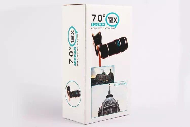 Orsda universal 70 degree 20mm 12x zoom telescope telephoto phones