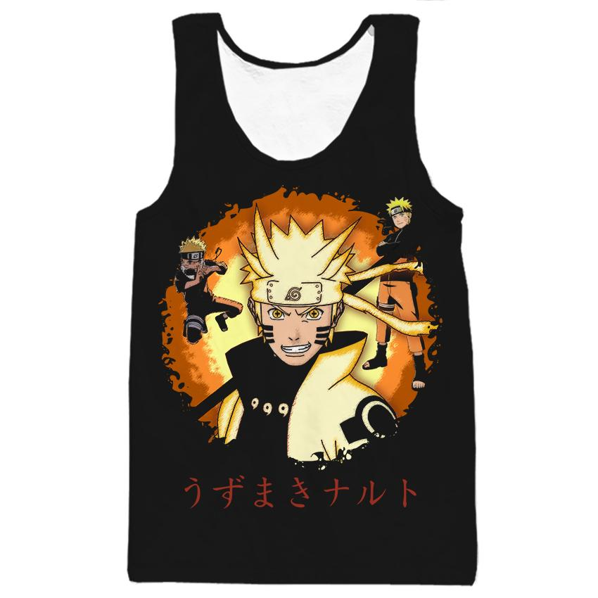 LiZhiYang Tank Tops Men women Summer 3d Print Uzumaki Naruto Sticky black Sleeveless Ves ...