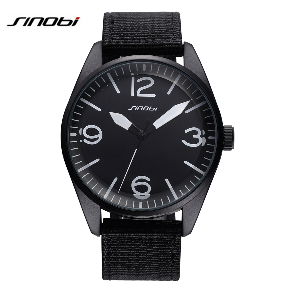 Sinobi famous brands male sports wrist watch nylon strap for mens luxury watch military quartz for Watches brands for men