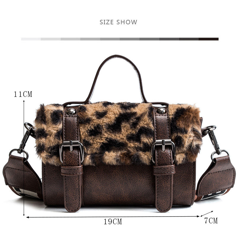 24f2e0022b5c Women Messenger Bag Classic Leopard Handbag Fashion Leather Shoulder Bag  Lady Autumn and Winter Faux Fur Crossbody Bags For Girl-in Shoulder Bags  from ...