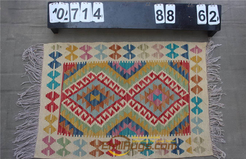 Hand Woven Kilim Carpet Needlepoint For Carpets Living Room Rectangle Carpet Natural Sheep Wool - 4