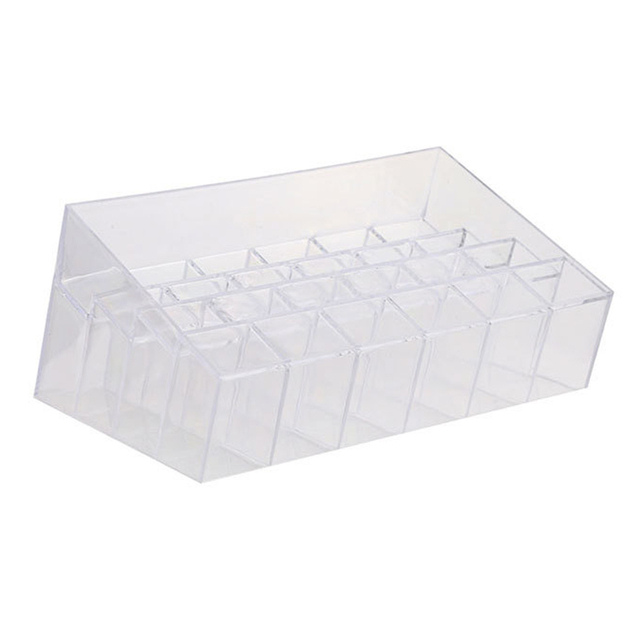 Clear Acrylic 24 Cosmetic Organizer Makeup Case Holder Display Stand Storage Box Lipstick Jewelry Cosmetic Box