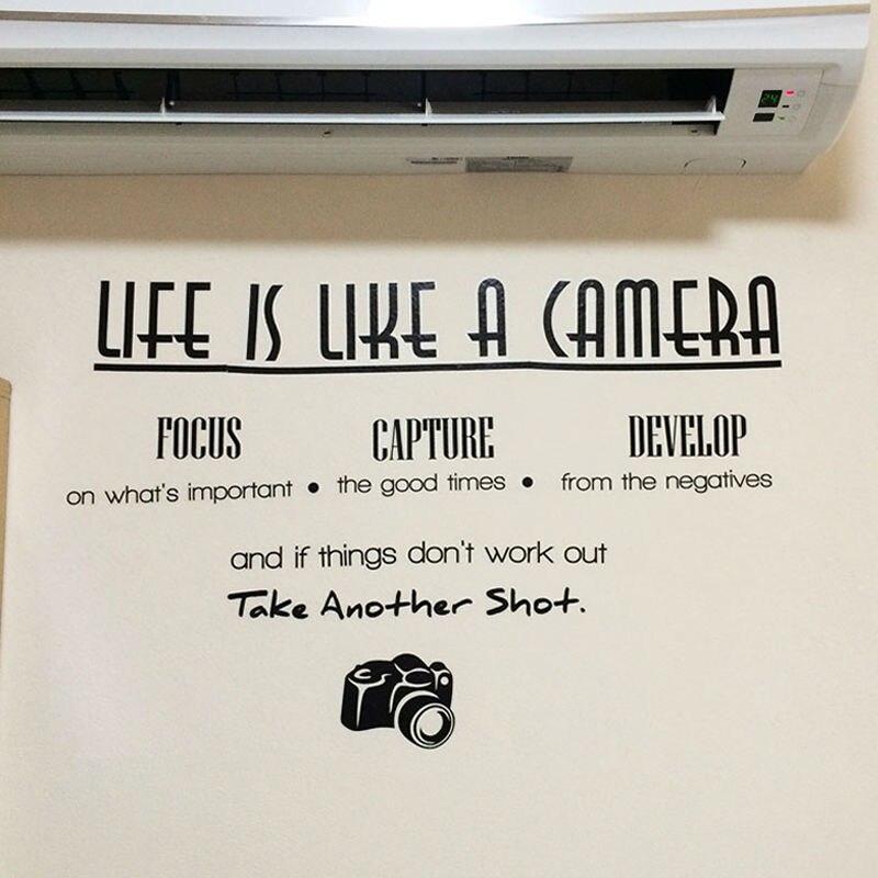 La vida es como una cámara de Captura de Enfoque Elaborar cotizaciones de pared