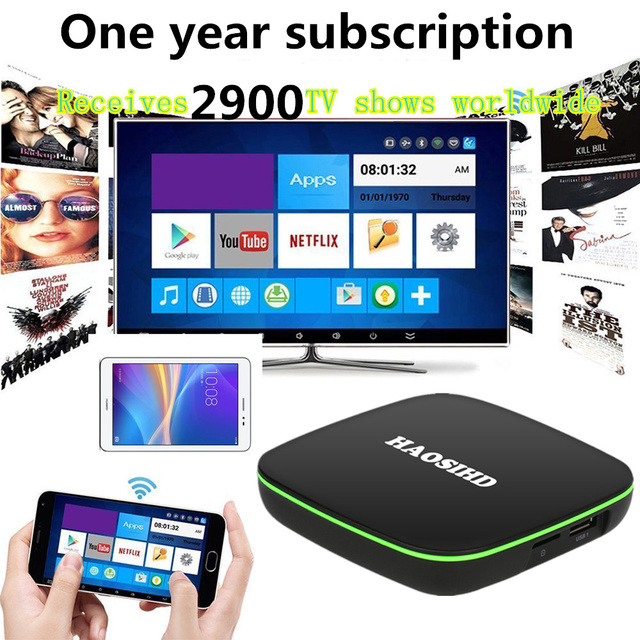 one year IPTV subscription android iptv box iptv adult Italy Poland  Netherlands africa arabic french European android tv box 7.1