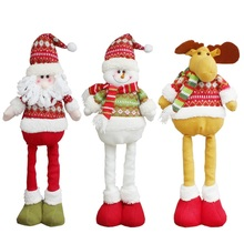 Christmas Stretchable Santa Claus Snowman Reindeer Telescopic Doll Decoration Xmas Tree Hanging Ornaments Pendant 2018 New