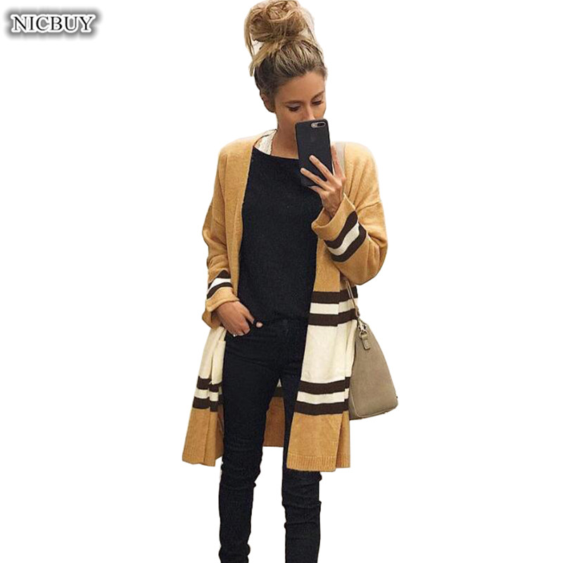 Women Casual Long Cardigan Knitted Blouse Long-sleeve Jacket Coat Sweaters Cardigans Tops Autumn Winter Womens Sweaters