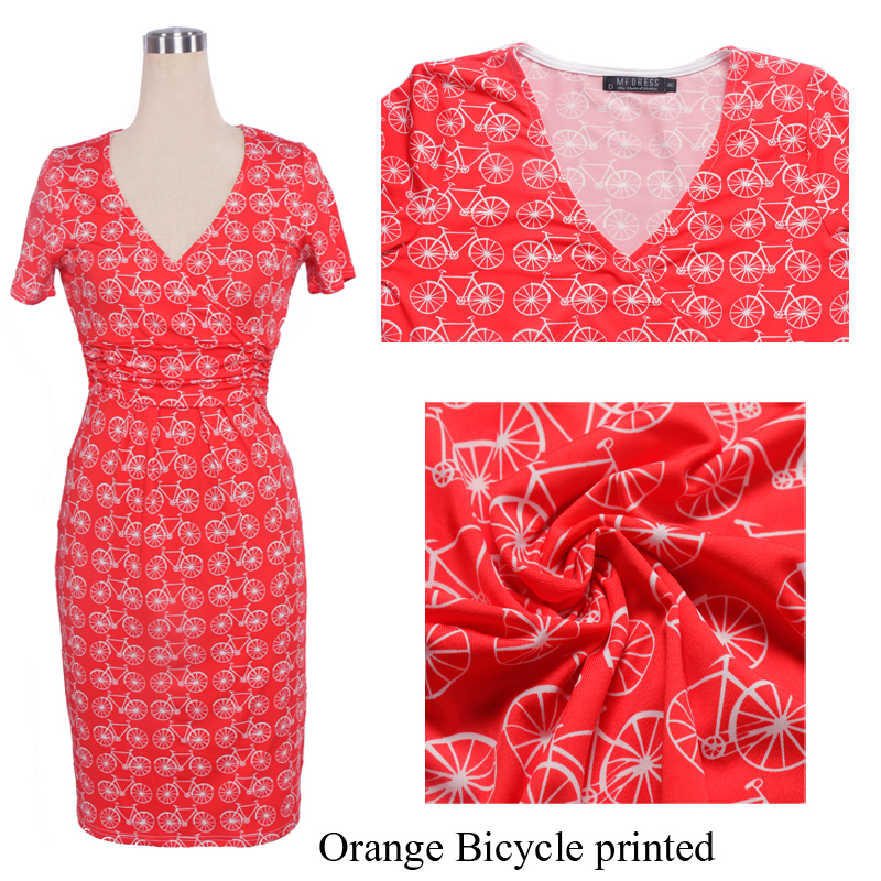 Orange Bicycle print 1