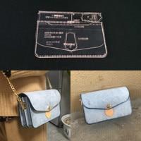 Acrylic Stencil Laser Cut Template Diy Leather Handmade Craft Shoulder Bag Sewing Pattern 180x110x50mm