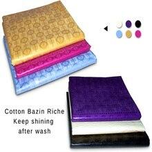 Austria Yarn Bazin Riche Fabric Similar to Getzners Quality Guinea Brocade Shadda African Fabrics Cotton Jacquard Feitex Sale