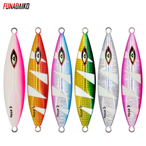 FUNADAIKO 1pcs slow jig jigging lure fishing lure big weight lead metal jig inchiku 180g 220g 250g Fishing Lures     -