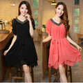 women dress 2016 plus size summer dress vestidos femininos women chiffon loose one-piece casual dress