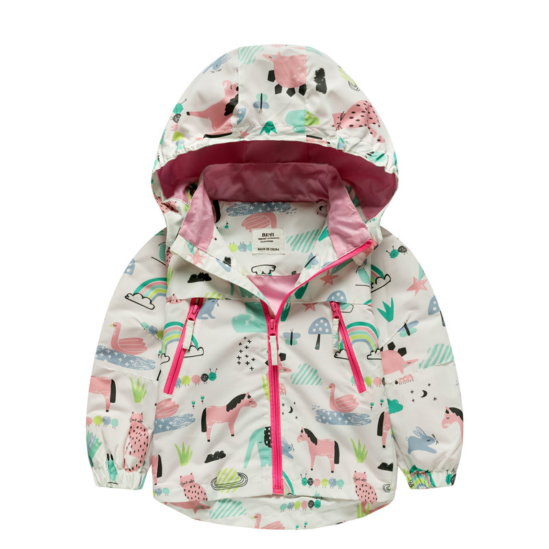New 2019 spring big girls clothes child kids jackets outwear baby girl windproof waterproof jacket