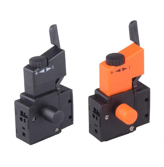 1pcs Lock on Power Tool Trigger Button Switch Black Electric Drill Speed Control Trigger Switch power tool push lock button trigger switch dpst dual pole ac250v 6a