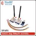 2 unids/lote SV651 500 mW 3 km larga distancia Módulo Si4432 868 MHz RF Transmisor RS485