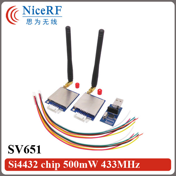 2pcs/lot SV651 500mW 3km long distance Si4432 868MHz RS485 RF Transmitter Module