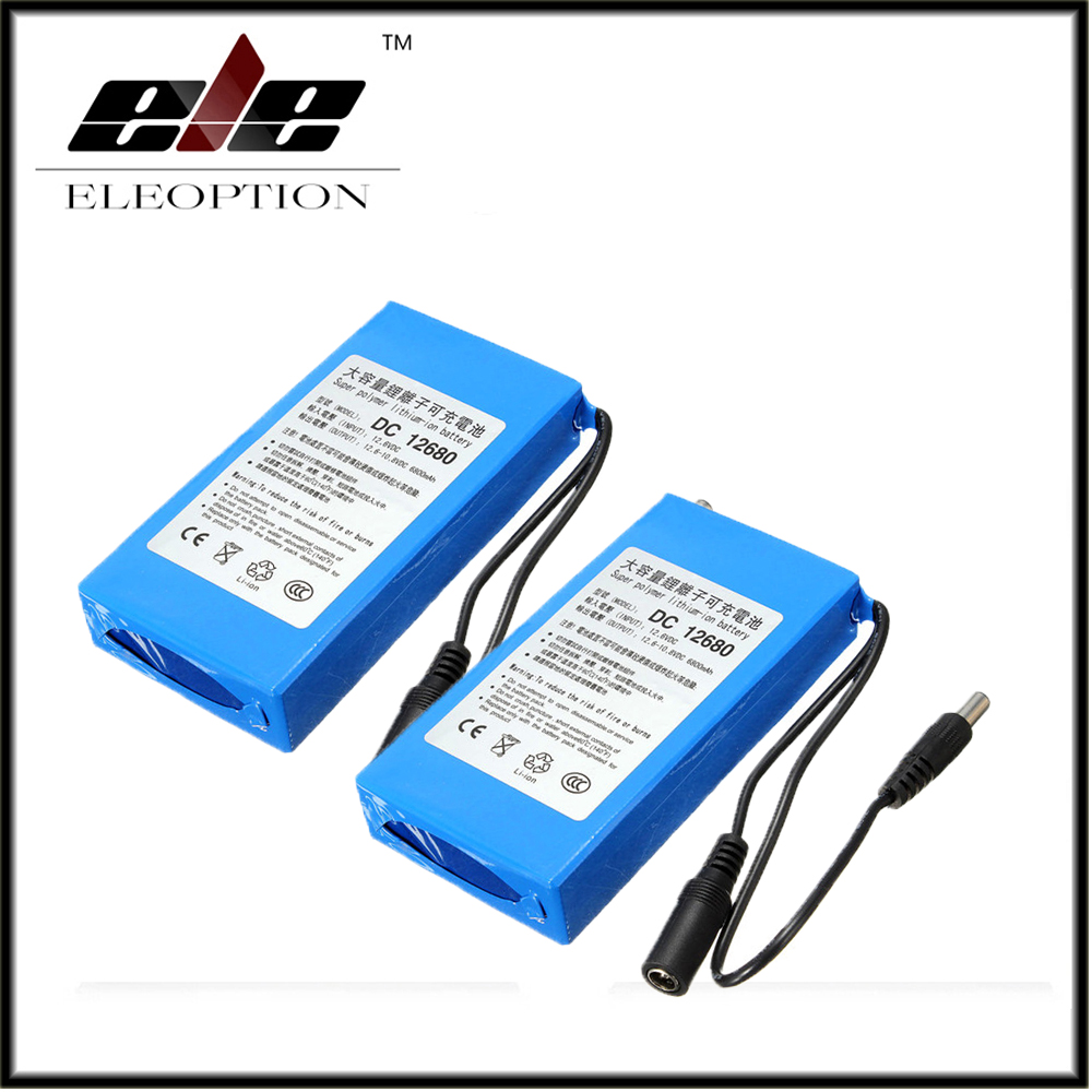 2x Eleoption DC12680 6800mAh 12V Rechargeable Battery rechargeable batteries For wireless transmitters CCTV camera