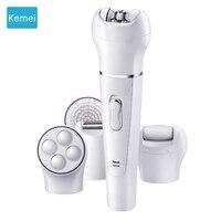 Kemei 5 in 1 Women Shaver Electric Shaver Epilator Shaving Bikini Trimmer Multifunction Lady's Shaver Remover Facial Razor 4