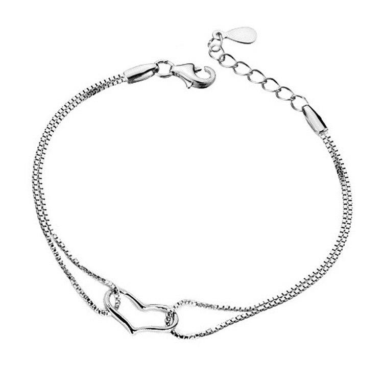 ZTUNG gcbl9 buenas mujeres clientes 925 joyería de plata enviar con bolsa y embalaje mujeres pulsera puede ser amor día regalo