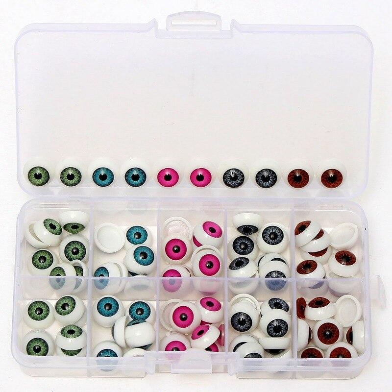 100pcs/box 12mm Doll Eyeballs Half Round Acrylic Eyes for DIY Doll Bear Crafts Dolls & Bears