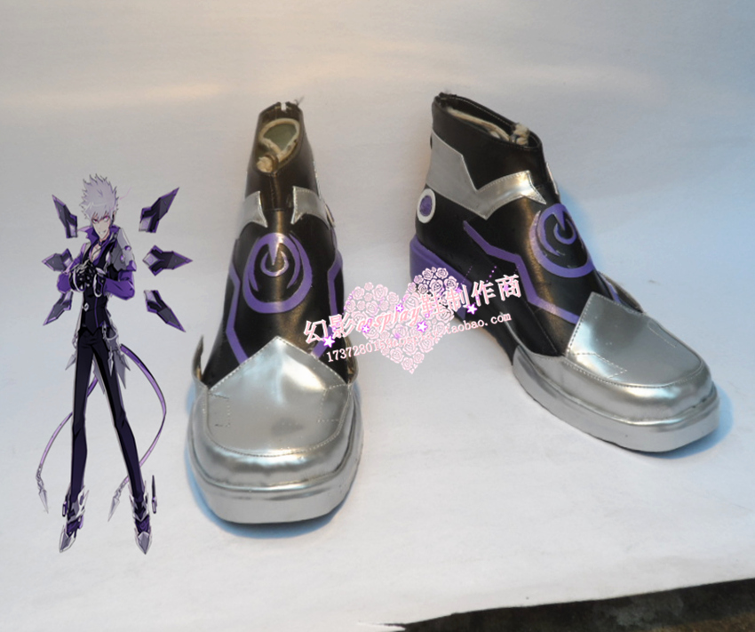 Elsword ADD Halloween Short Cosplay boots Shoes H016