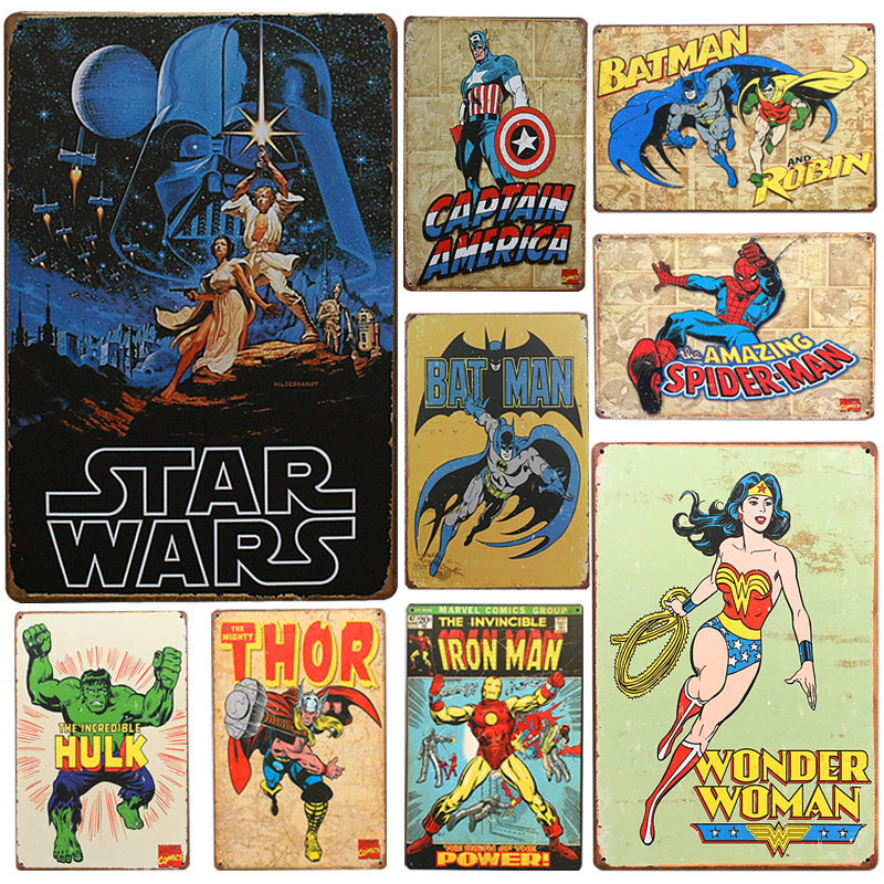 Hot Star Wars Chic Home Bar Vintage Metal Signs Home Decor Vintage Tin Signs  Pub Vintage