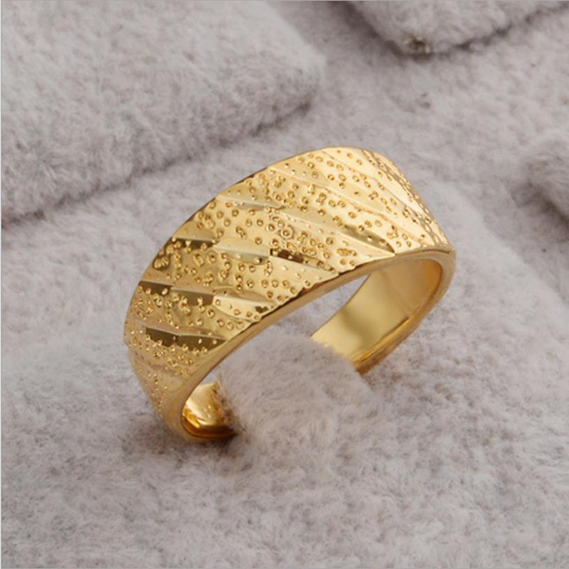 TJP Trendy Gold Meteor Shower Women Rings Jewelry Top Quality Female Gold Finger Rings For Girl Lady Wedding Party Bijou Open