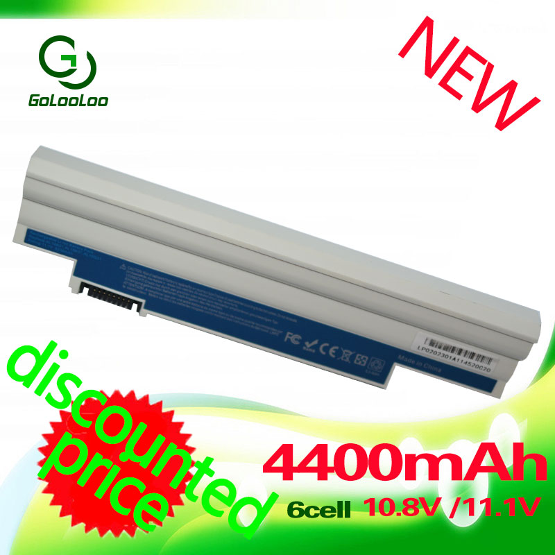 все цены на Golooloo 4400mAh white battery for Acer Aspire AL10A31 AL10B31 AL10G31 One 522 D255 722 AOD255 AOD260 D257 D255E D260 D270 онлайн