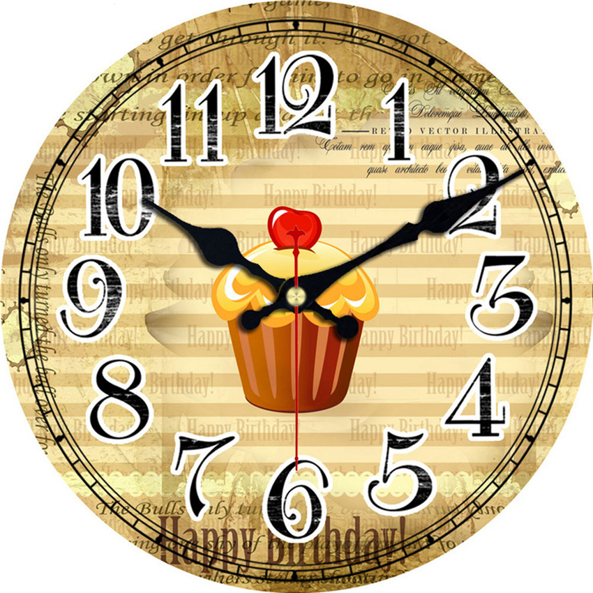 MEISTAR vendimia relojes vajilla comida diseño silencioso cocina ...
