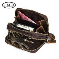 Top Quality Men Key Wallet.Crazy Horse Leather Vintage Soild Men Wallet Male Key Hand Purse With Interior Key Chain Holder.QB104