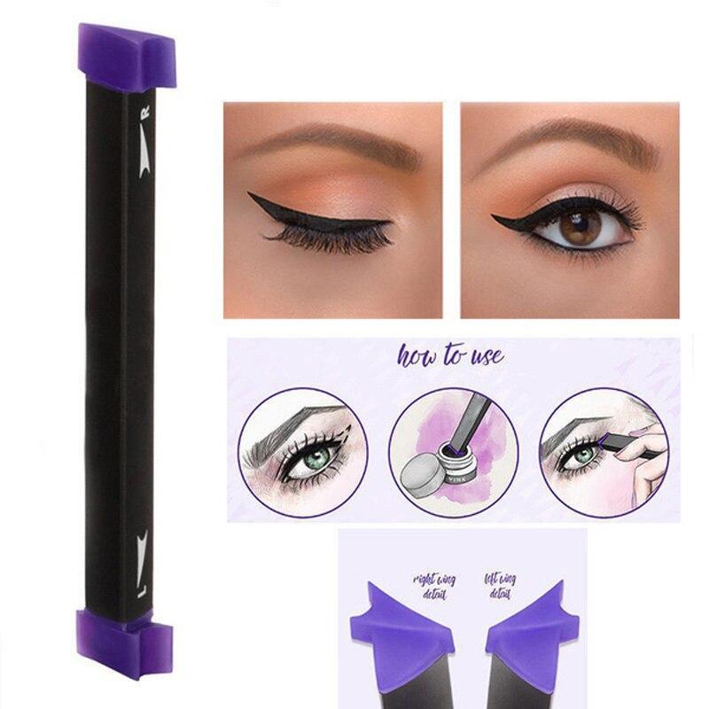 sellos de maquillaje estilo negro eye liner delineador de ojos herramienta de la belleza de nueva